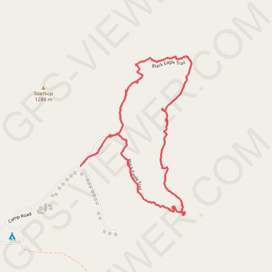 Black Eagle Trail - Mountain Zebra National Park GPS track, route, trail
