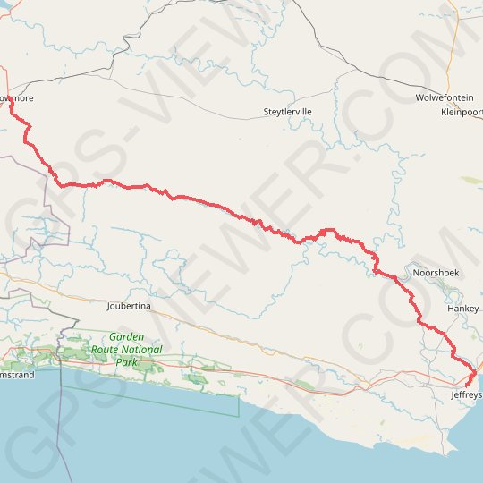 Willowmore - Jeffreys Bay GPS track, route, trail