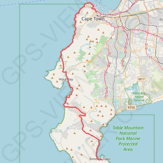 Simon's Town - Cape Town GPS track, route, trail