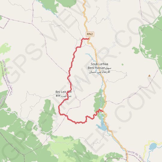 CHAOUEN BNI HASSAN 2020-01-12-15-30 GPS track, route, trail